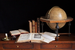 Still life with books and a globe / Charlotte Fröling