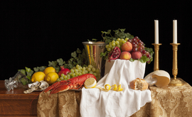 Still life with lobster and fruits / Charlotte Fröling