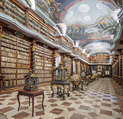 Books, clocks and globes, national library, Prague / Reinhard Gorner