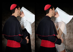Cardinal et nonne (The kiss) / Cécile Plaisance