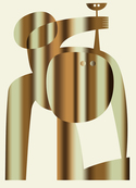 Nude with ball (Gold version) / Marcel Ceuppens