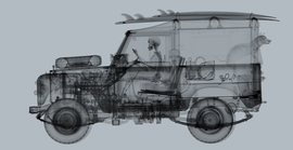 Land Rover surfer (Mid Grey) / Nick Veasey